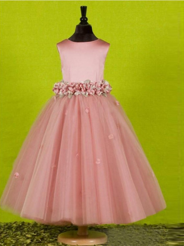 The most trendy a lineprincess scoop sleeveless bowknot long tulle the most trendy a lineprincess scoop sleeveless bowknot long tulle flower girl dresses mightylinksfo
