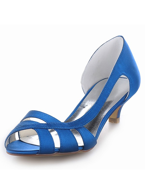 The Most Fashionable Women's Satin Peep Toe Kitten Heel Sandals Shoes