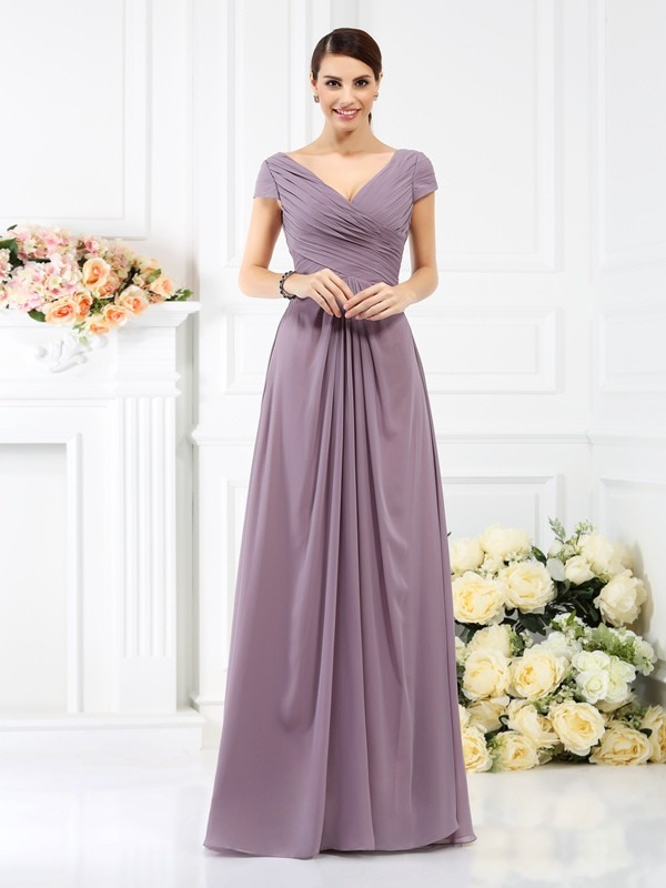 Bridesmaid Dresses Short Sleeves
