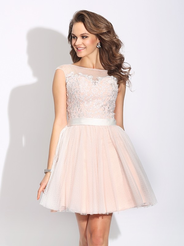 8ca5fc0b7d Stylish A-Line/Princess Ruffles Short Sleeves Bateau Short Net Dresses ·  Share on facebook Share on Tumblr Tweet