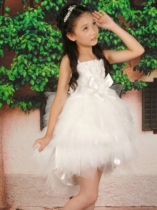 d9b56b5df32 The Most Trendy A-line Princess Straps Sleeveless Hand-made Flower Short  Tulle