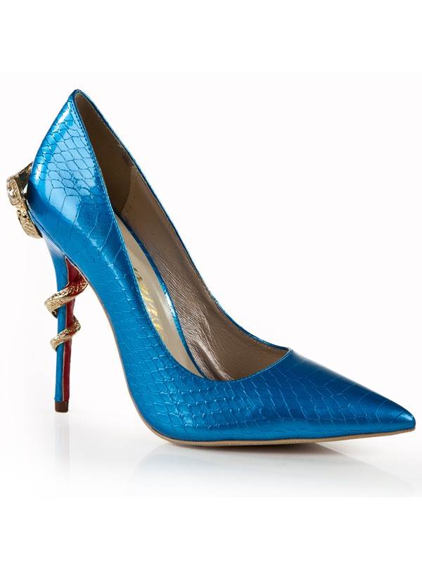 d14cf7a1a358 The Most Fashionable Women s Stiletto Heel Royal Blue Closed Toe With Rhinestone  High Heels