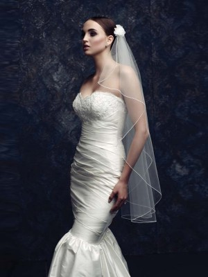 The Most Stylish Elegant Tulle With Flower Wedding Veils