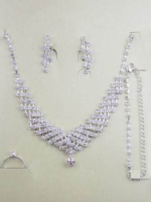 Gorgeous Alloy Wedding Bridal Jewelry Set With Rhinestones Hot Sale