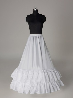 A-Line 1 Tier Floor Length Slip Nice Nylon Style Wedding Petticoats