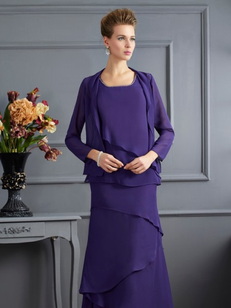 Stylish Chiffon Special Occasion Long Sleeves Wrap
