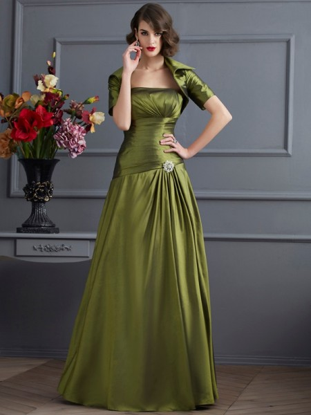 Fashion Taffeta Special Occasion Short Sleeves Wrap