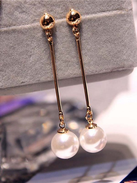 Korean Attractive Imitation Pearl Earrings For Ladies