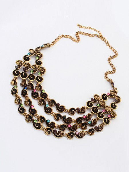 The Most Fashionable Occident Hyperbolic Personality multi-layered Hot Sale Necklace