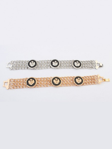 The Most Fashionable Occident Hyperbolic Punk Retro Lionhead Hot Sale Bracelets