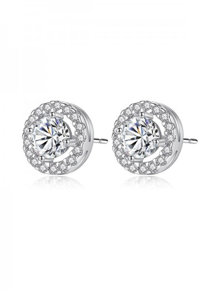 Elegant Zircon With Cubic Zirconia Women's Earrings