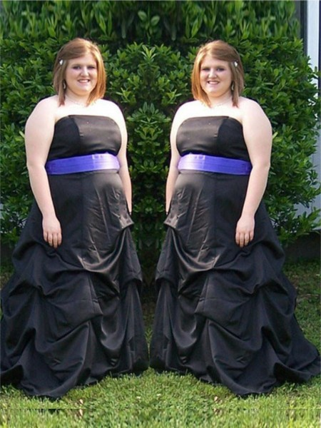 A-Line/Princess Strapless Sleeveless Sash/Ribbon/Belt Sweep/Brush Train Satin Plus Size Dresses