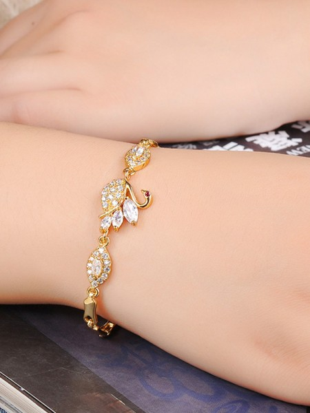 Ladies' Hot Sale Swan Copper Bracelets