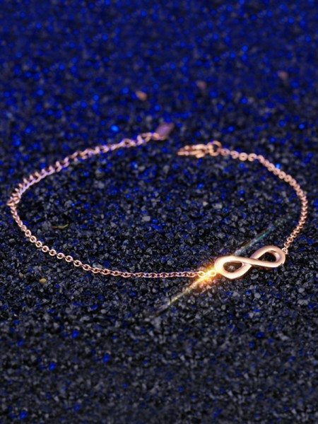 Pretty Titanium With Bowknot Chain Bracelets
