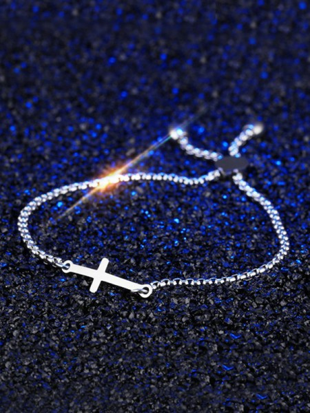 Fashion Titanium With Cross Chain Bracelets