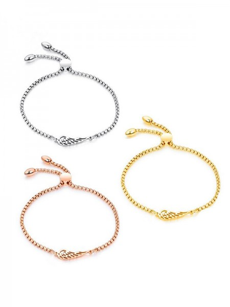 Graceful Titanium With Wing Chain Bracelets