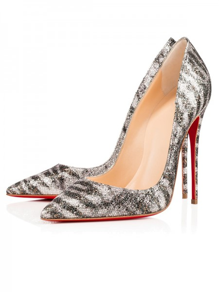 The Most Fashionable Women's Sparkling Glitter Closed Toe Stiletto Heel High Heels