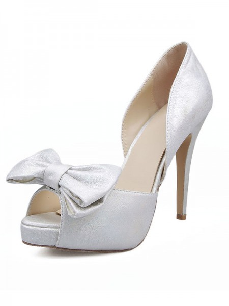 The Most Stylish Women's Satin Peep Toe With Bowknot Stiletto Heel Sandals Shoes