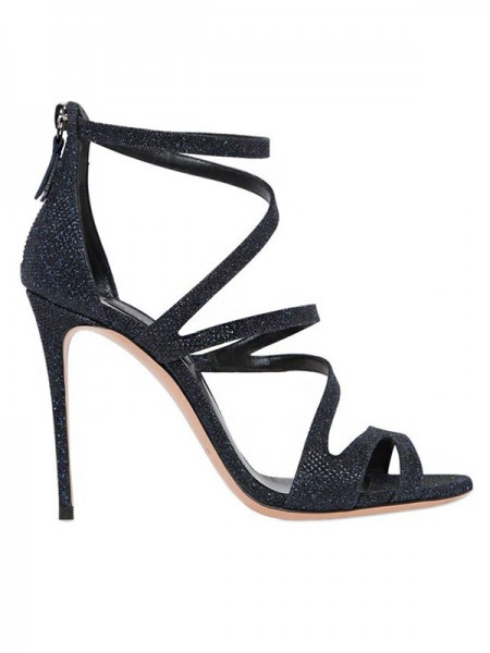 Fashion Suede Peep Toe Stiletto Heel Sandals For Women