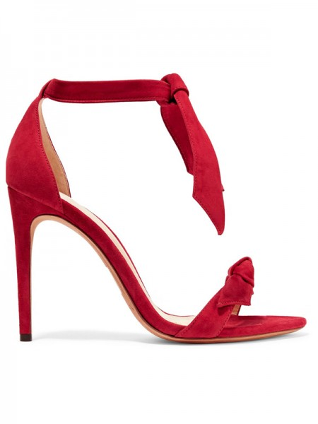 Stylish Suede Peep Toe Stiletto Heel Sandals For Women