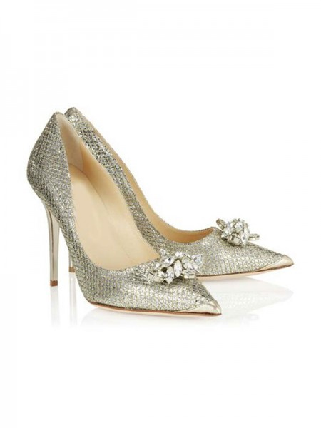 The Most Trendy Women's Closed Toe Stiletto Heel With Rhinestone High Heels