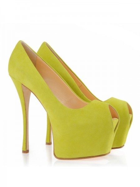 The Most Trendy Women's Suede Peep Toe Stiletto Heel Platform Platforms Shoes