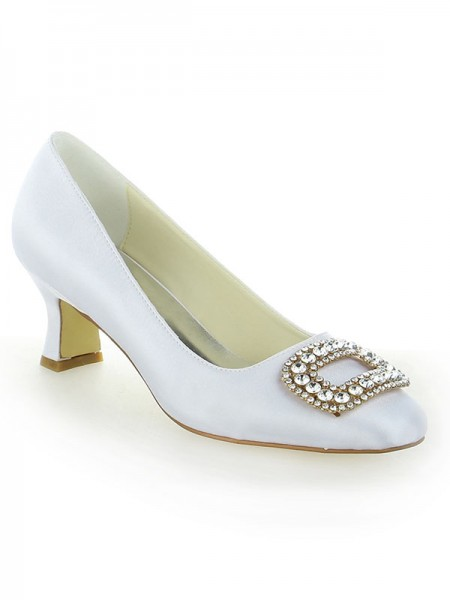 The Most Fashionable Women's Closed Toe Chunky Heel With Rhinestone High Heels