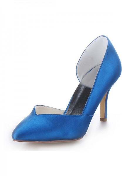 The Most Trendy Women's Cone Heel Satin Closed Toe High Heels