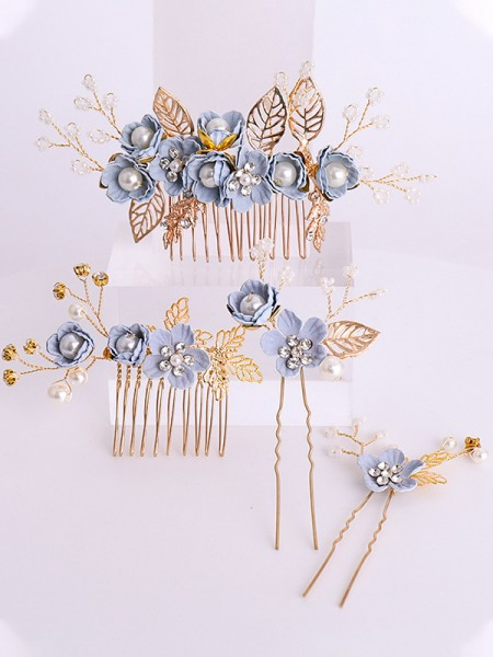 Graceful Flowers Cloth Headpieces