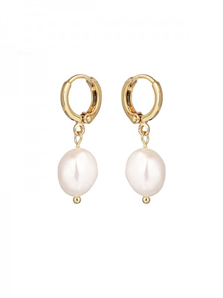 Elegant Pearl With Copper Ladies's Earrings